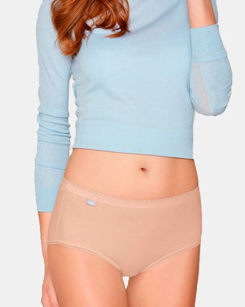 Imagen de Braga midi lisa cotton strech de Playtex- Pack de 2