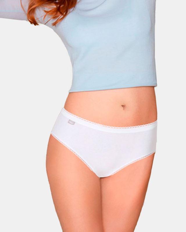 Imagen de Braguita mini lisa cotton strech de Playtex - Pack de 2
