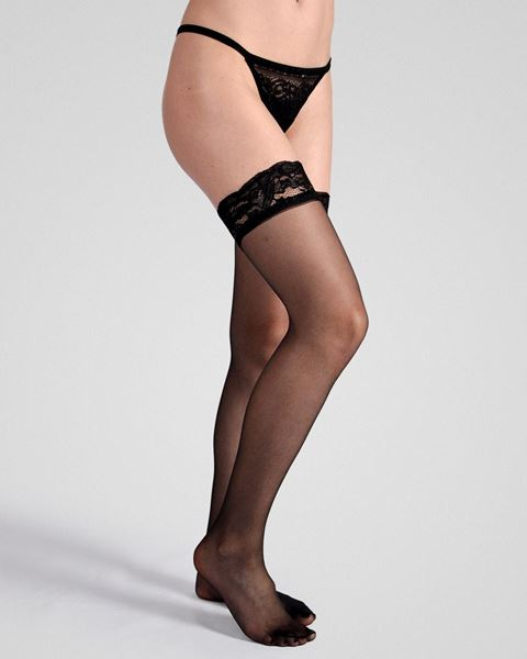 Imagen de Media con liga sensual D20 de Golden Lady