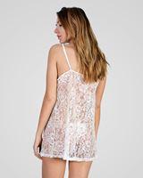 Imagen de Conjunto Novia camisón y tanga bordado floral