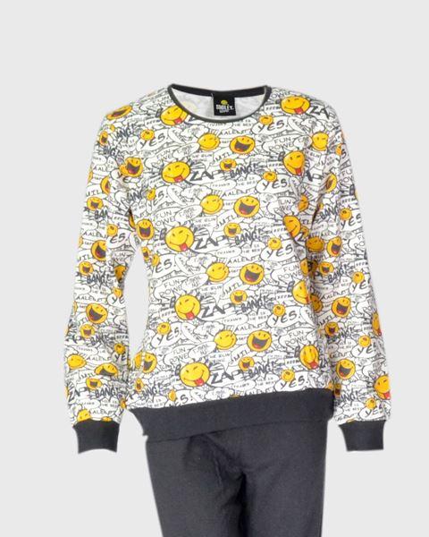 Imagen de Pijama calentito Smiley de Admas