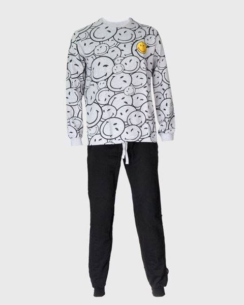 Imagen de Pijama Smiley gris de Admas