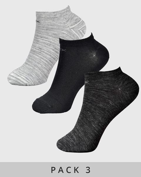 Imagen de Calcetines tobilleros jaspeado de Calvin Klein - Pack de 3
